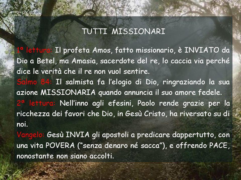 TUTTI MISSIONARI