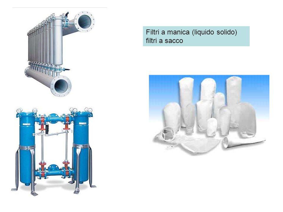 Filtri a manica (liquido solido) filtri a sacco