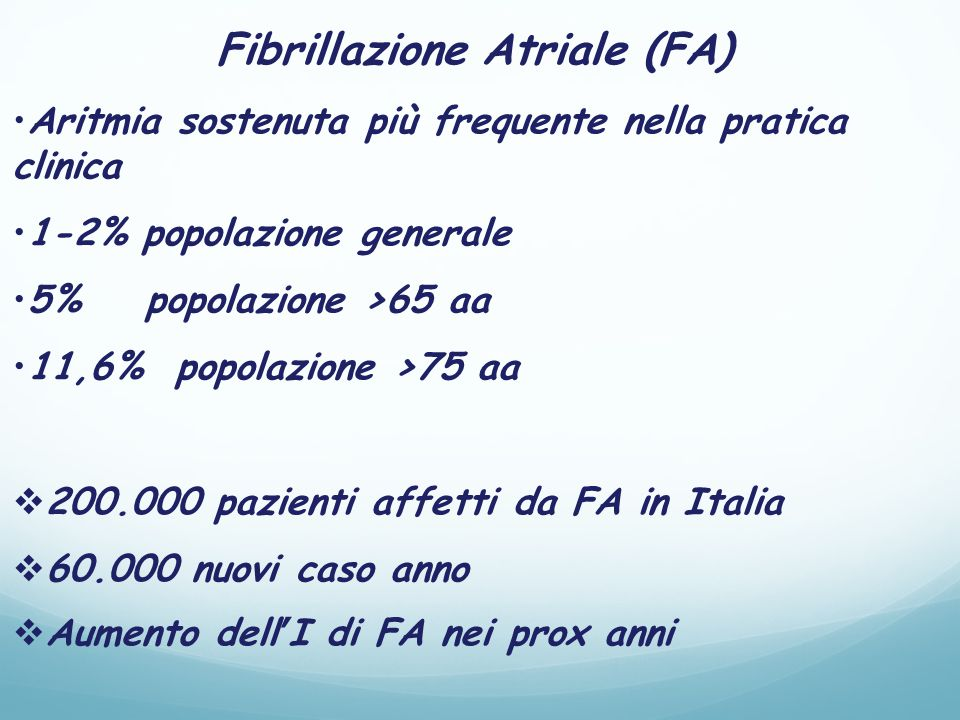 Fibrillazione Atriale (FA)