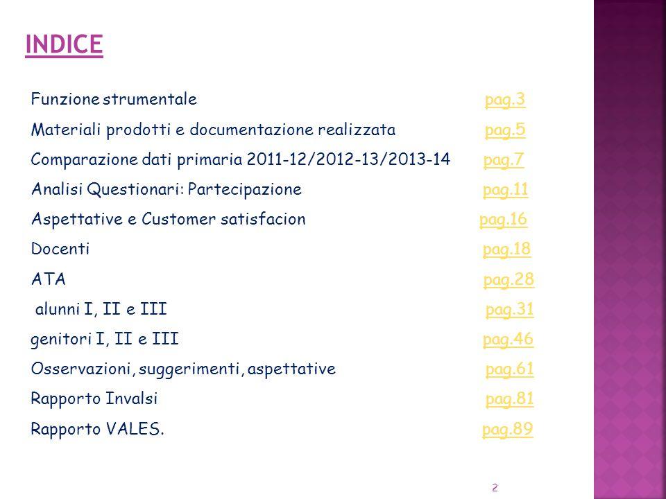 INDICE Funzione strumentale pag.3