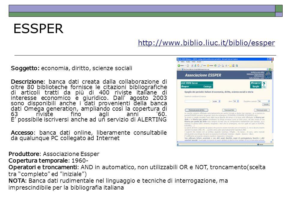 ESSPER http://www.biblio.liuc.it/biblio/essper