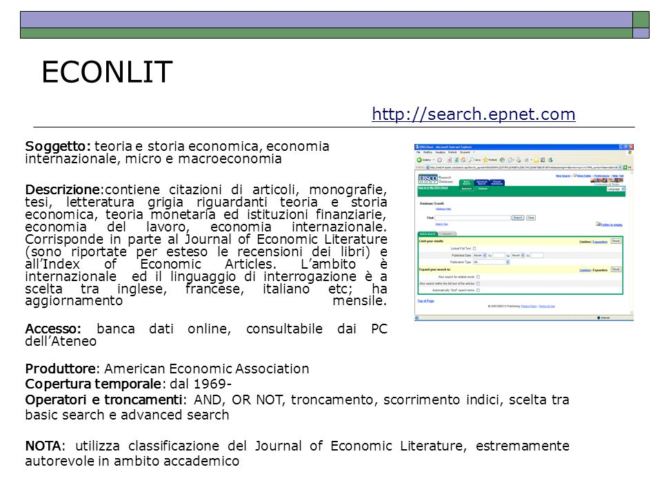 ECONLIT http://search.epnet.com