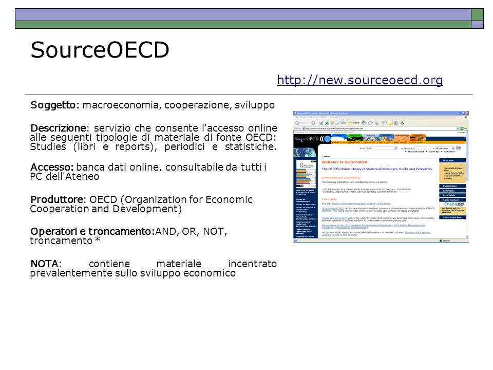 SourceOECD http://new.sourceoecd.org