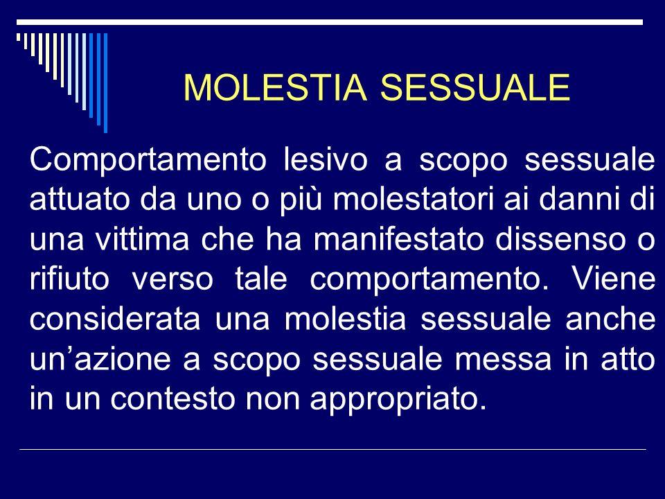 MOLESTIA SESSUALE
