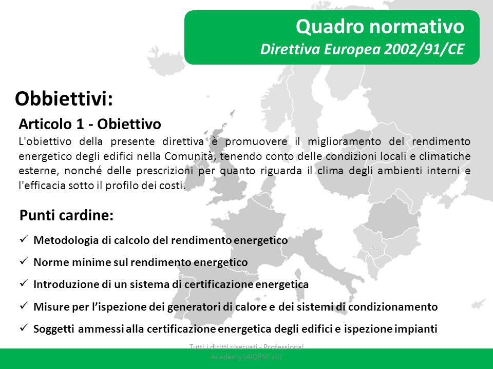 Tutti i diritti riservati - Professional Academy (AIDEM srl)