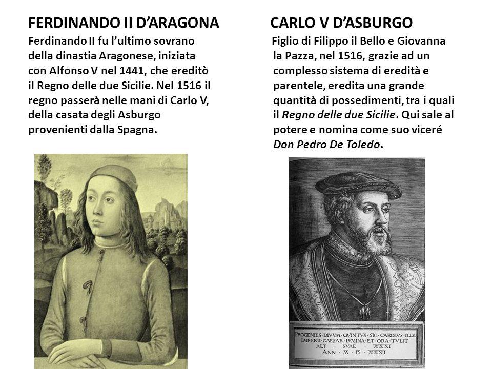 FERDINANDO II D'ARAGONA CARLO V D'ASBURGO