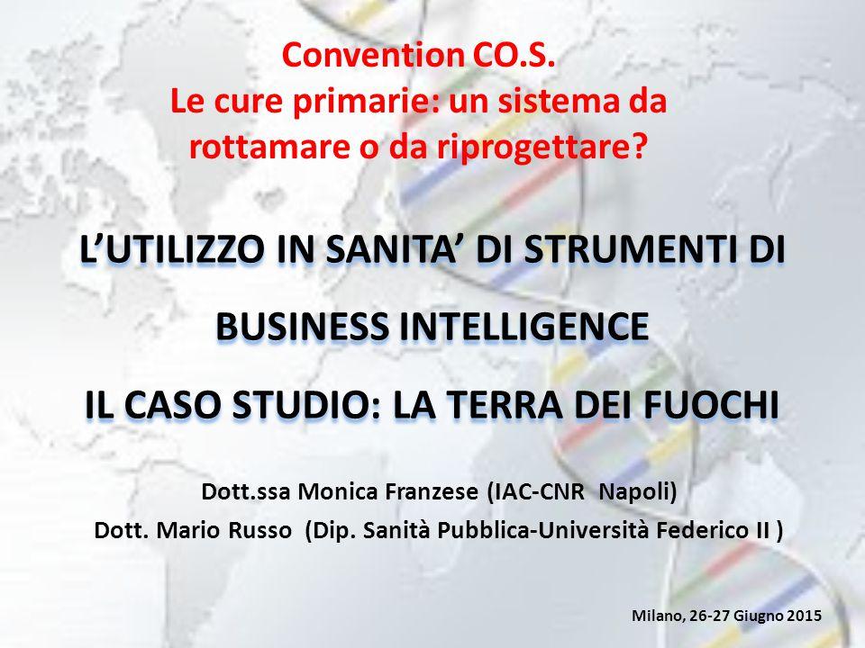 L'UTILIZZO IN SANITA' DI STRUMENTI DI BUSINESS INTELLIGENCE