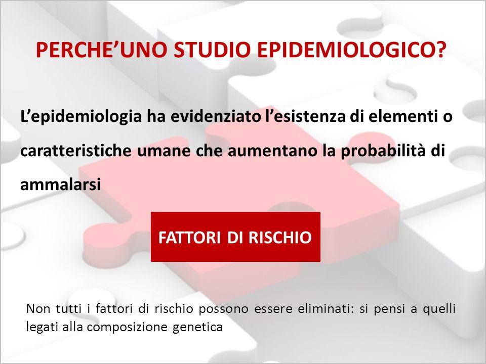 PERCHE'UNO STUDIO EPIDEMIOLOGICO