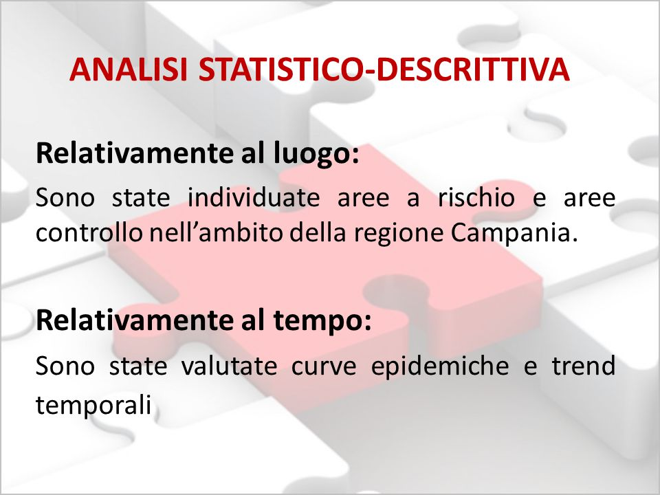 ANALISI STATISTICO-DESCRITTIVA