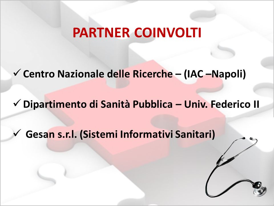 PARTNER COINVOLTI Centro Nazionale delle Ricerche – (IAC –Napoli)