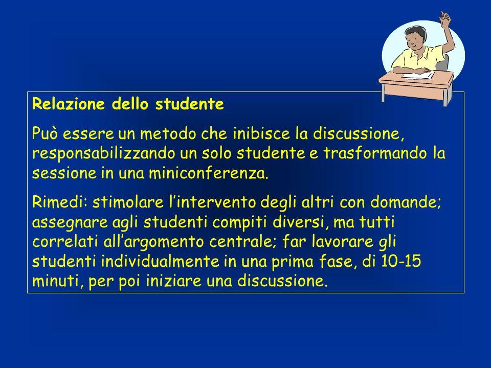 Relazione dello studente