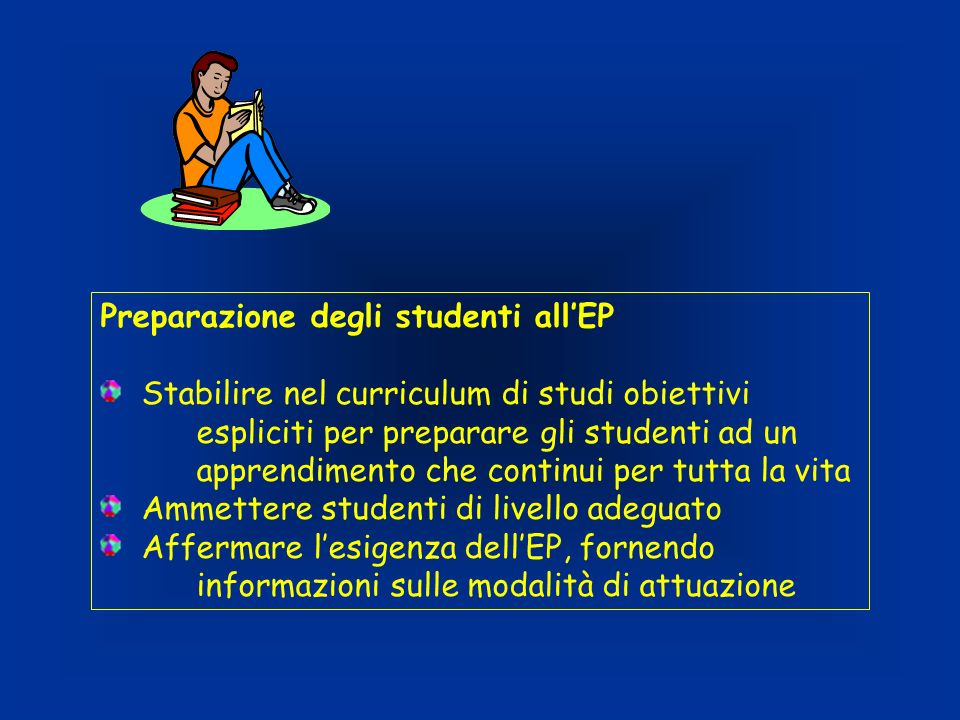 Preparazione degli studenti all'EP