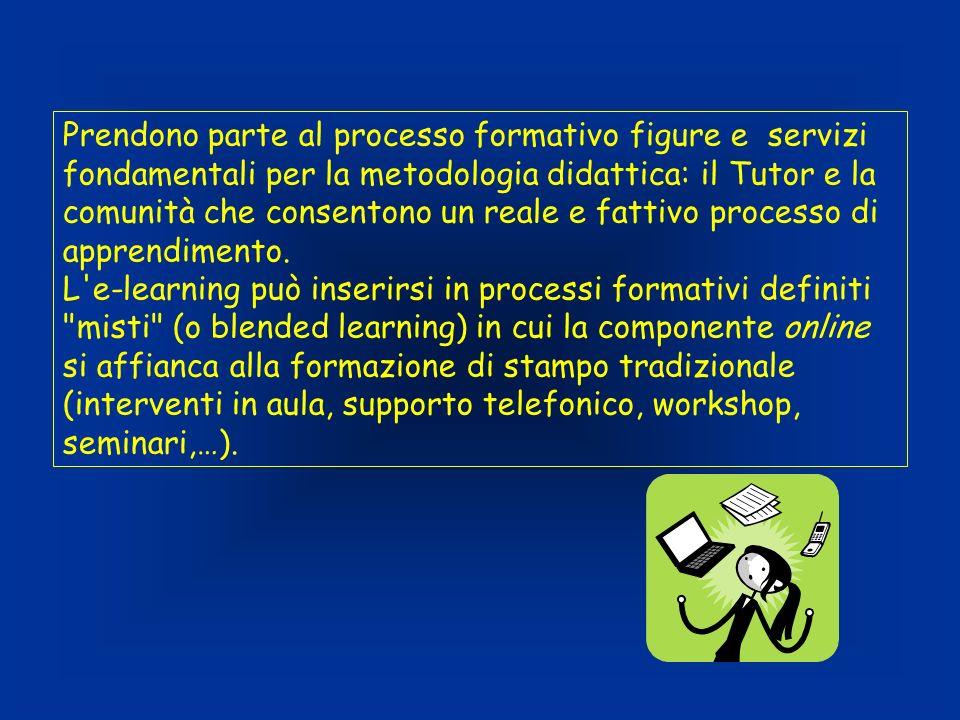 Prendono parte al processo formativo figure e servizi fondamentali per la metodologia didattica: il Tutor e la comunità che consentono un reale e fattivo processo di apprendimento.