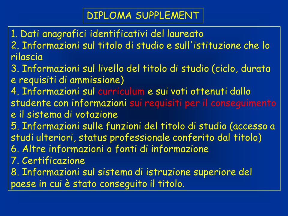 DIPLOMA SUPPLEMENT