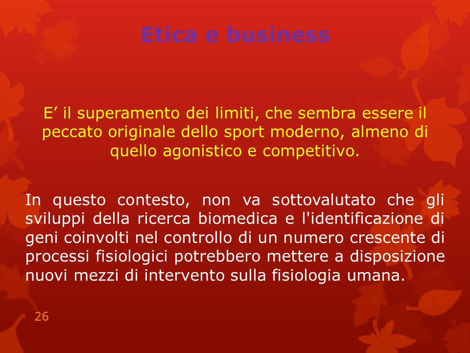 Etica e business