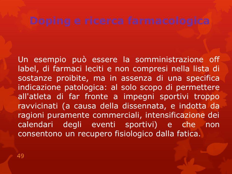 Doping e ricerca farmacologica