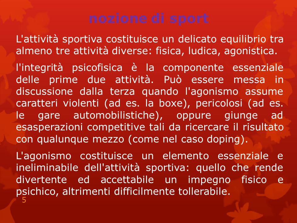 nozione di sport