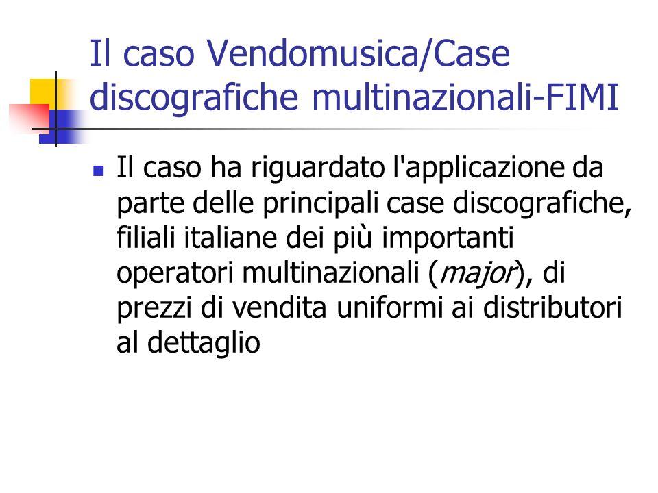 Il caso Vendomusica/Case discografiche multinazionali-FIMI