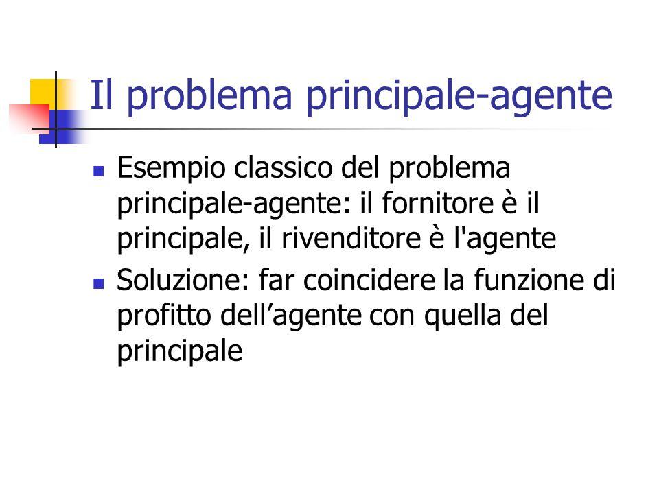 Il problema principale-agente
