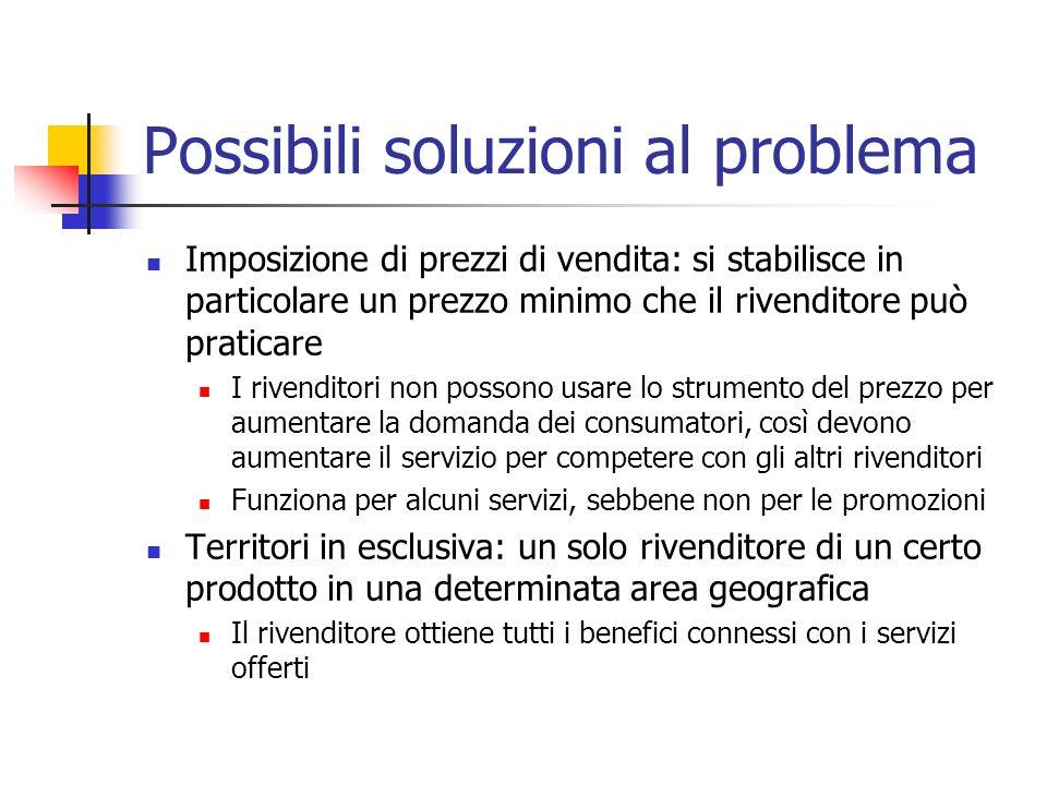 Possibili soluzioni al problema