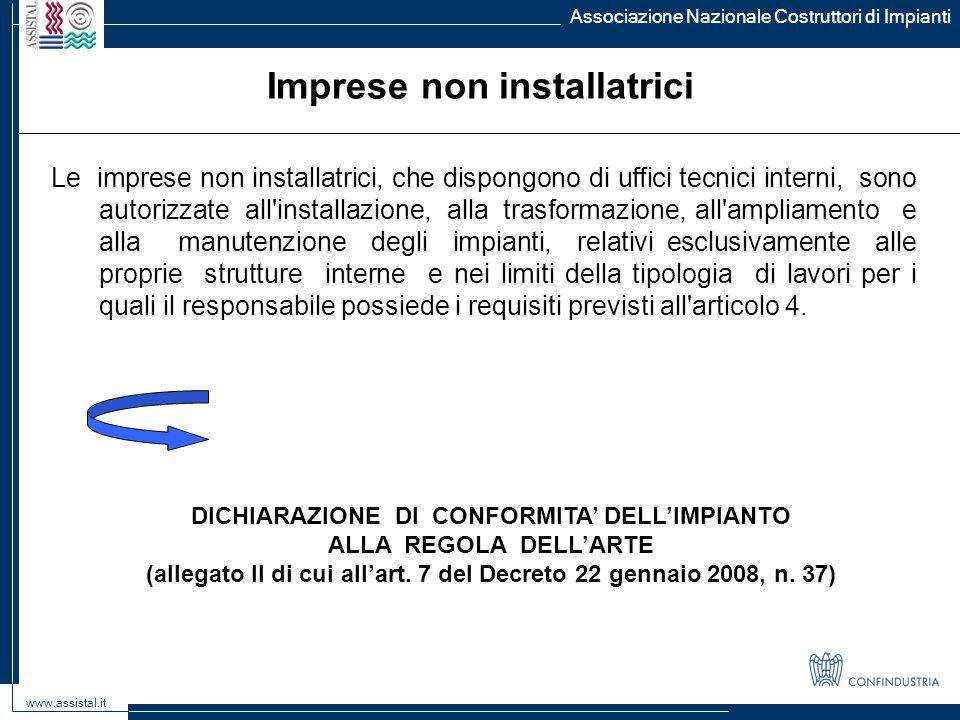 Imprese non installatrici