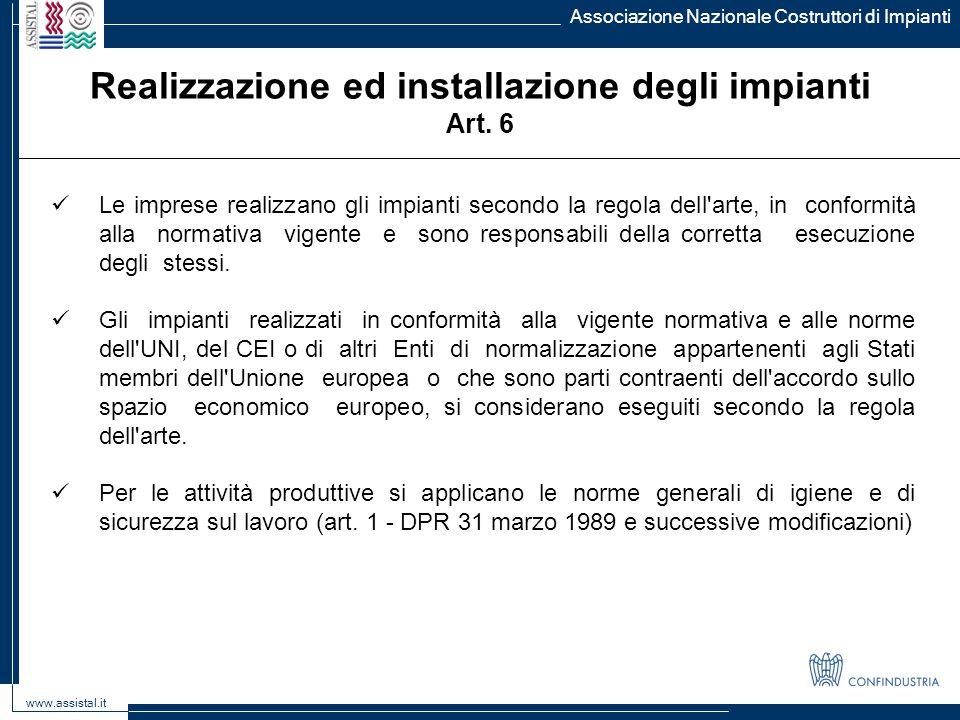 Realizzazione ed installazione degli impianti