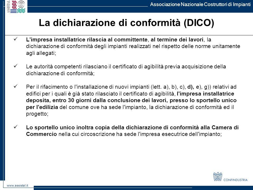 La dichiarazione di conformità (DICO)