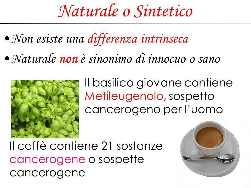 Naturale o Sintetico Non esiste una differenza intrinseca