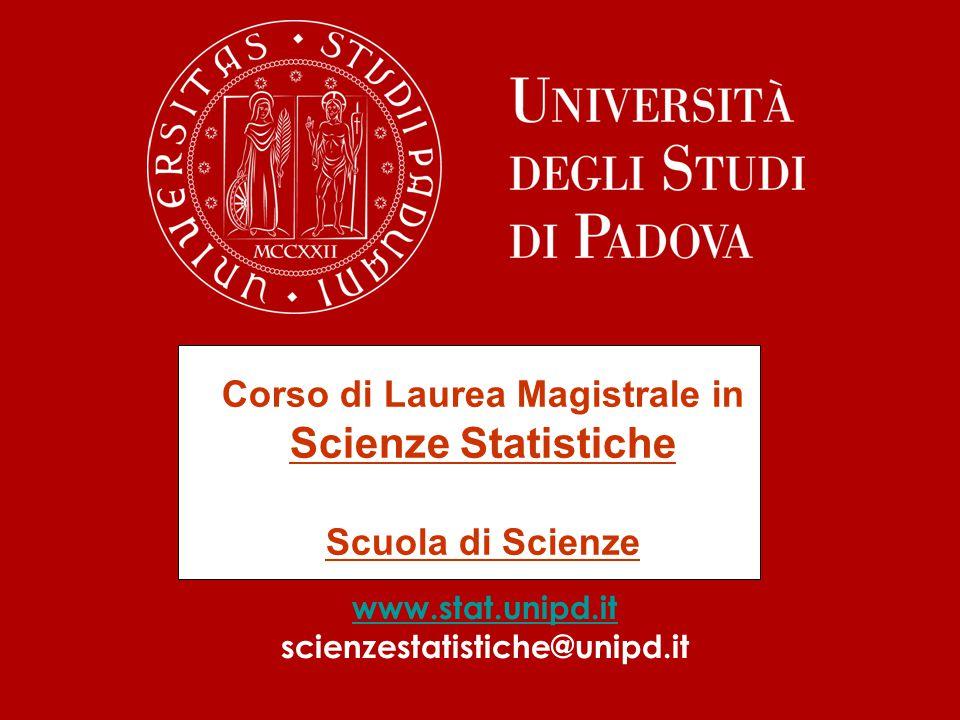 Corso di Laurea Magistrale in Scienze Statistiche Scuola di Scienze