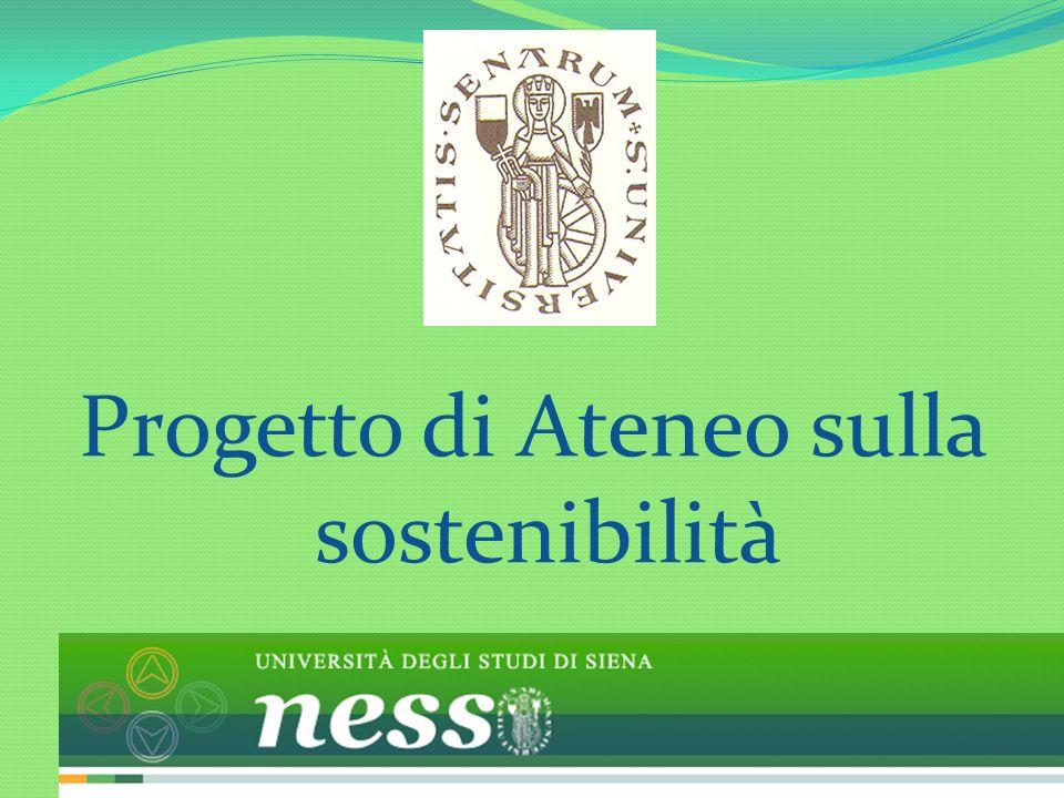 Progetto di Ateneo sulla sostenibilità