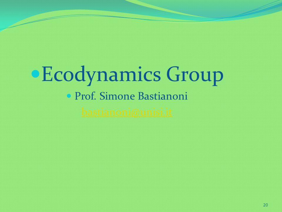 Prof. Simone Bastianoni