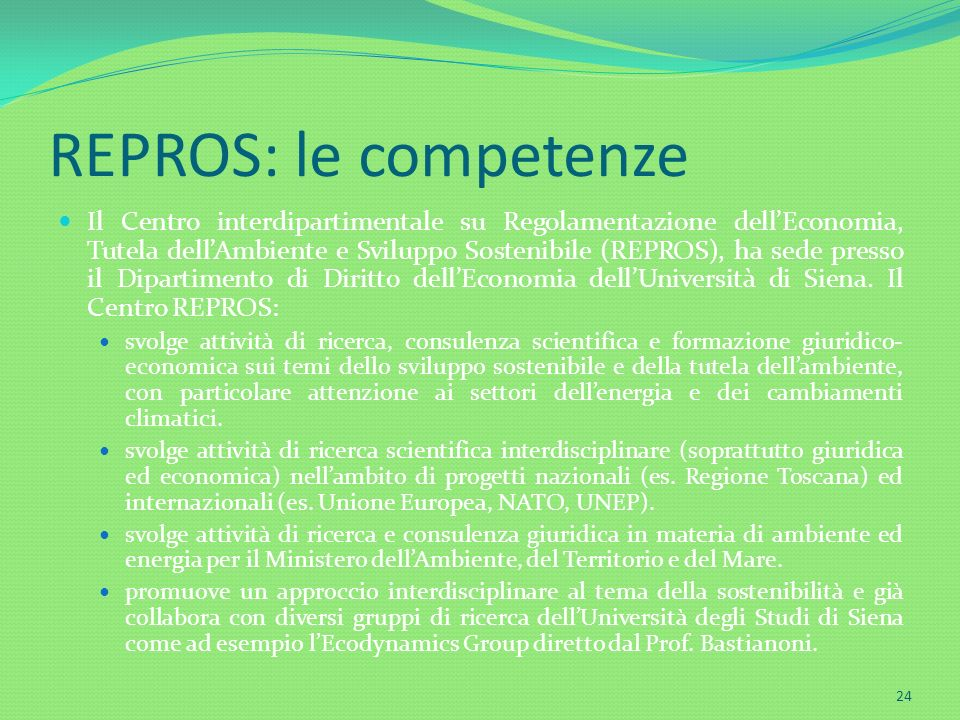 REPROS: le competenze