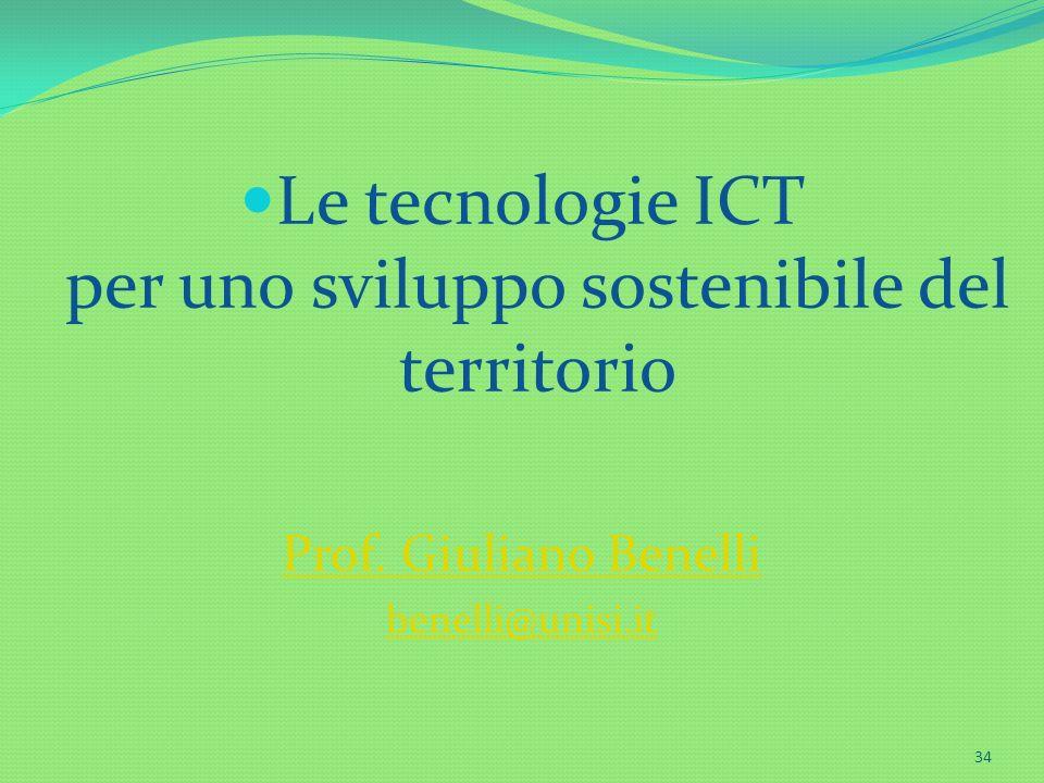 Le tecnologie ICT per uno sviluppo sostenibile del territorio