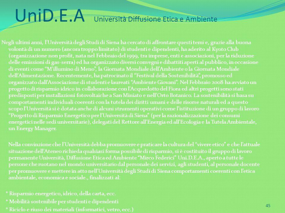 UniD.E.A Università Diffusione Etica e Ambiente