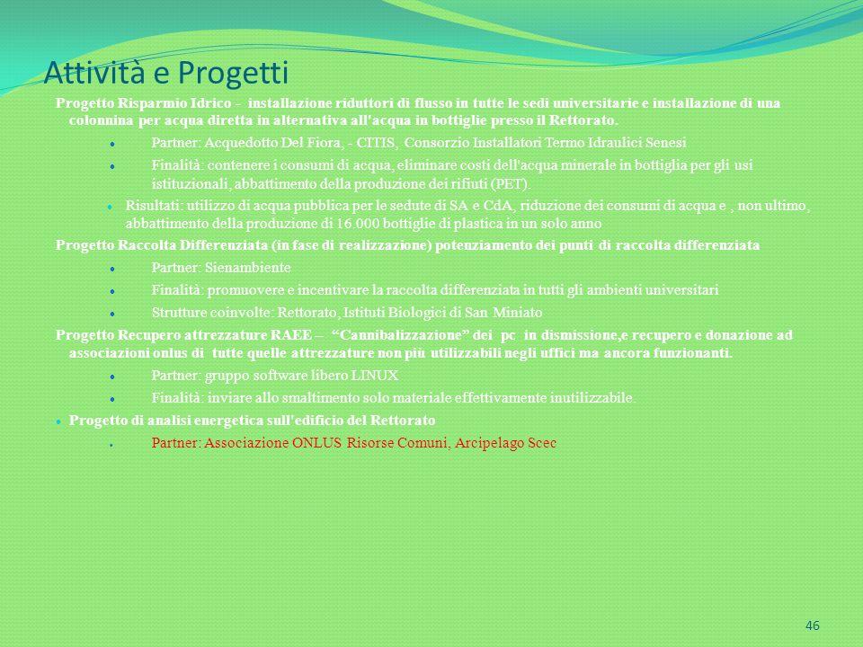 Attività e Progetti
