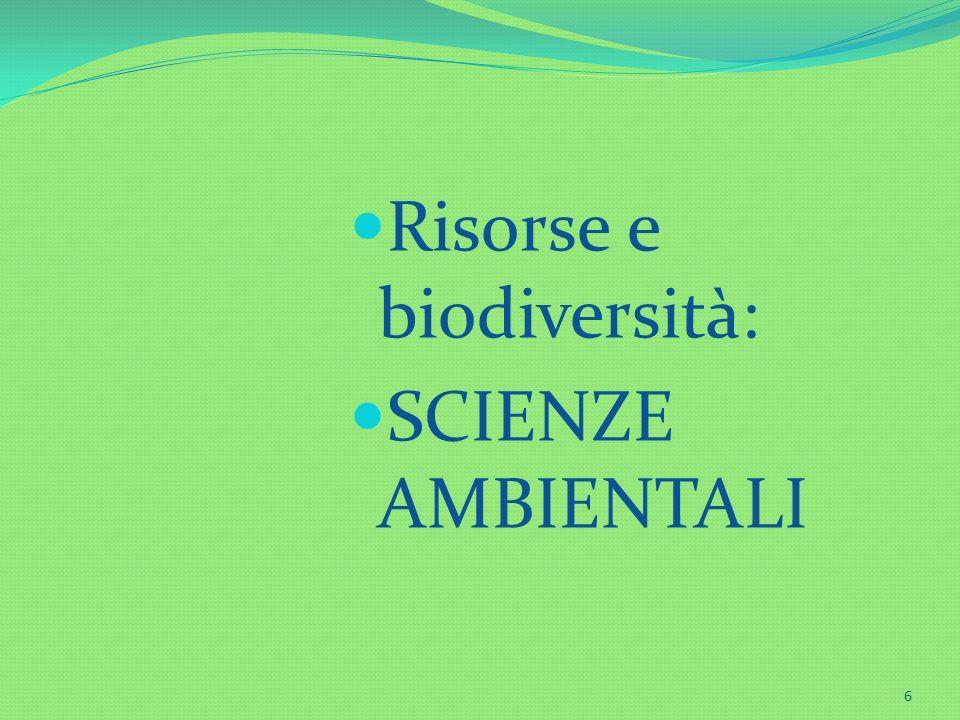 Risorse e biodiversità: