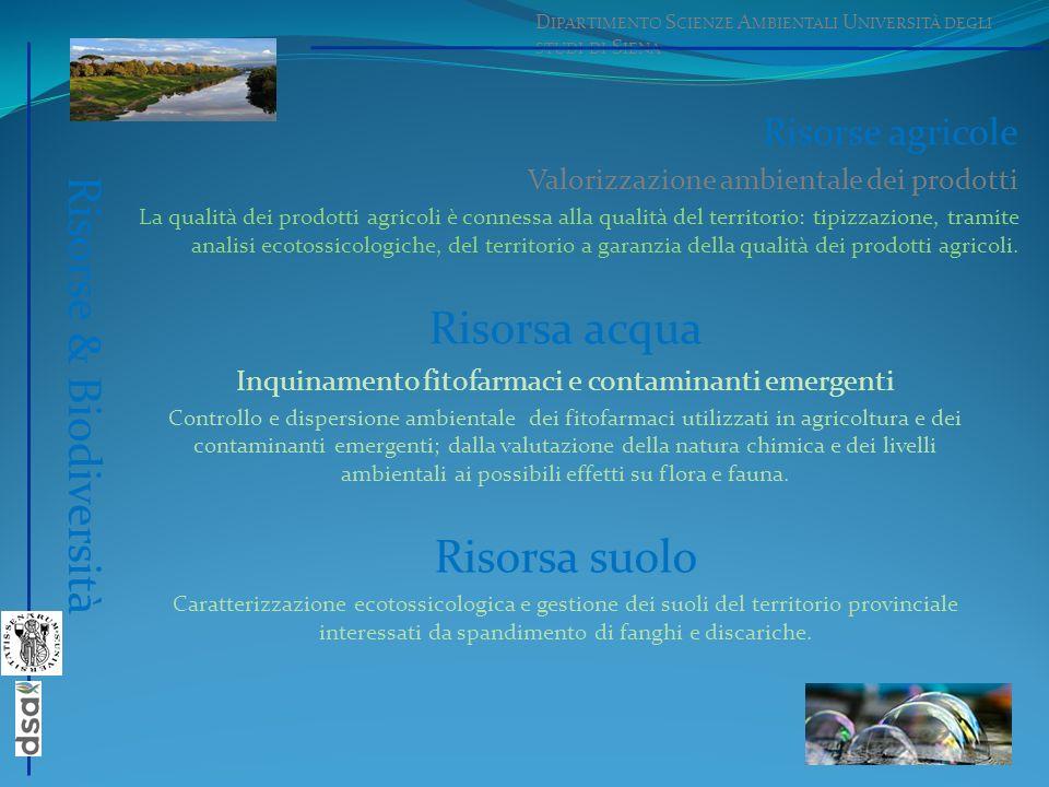 Inquinamento fitofarmaci e contaminanti emergenti