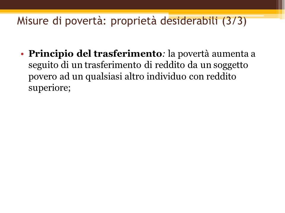 Misure di povertà: proprietà desiderabili (3/3)