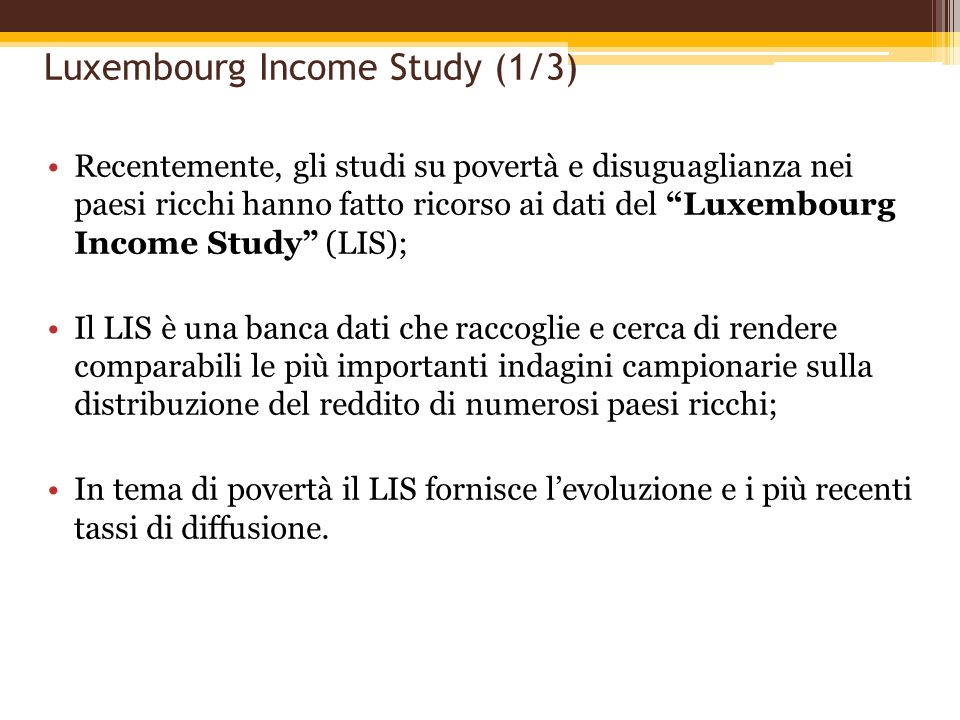 Luxembourg Income Study (1/3)
