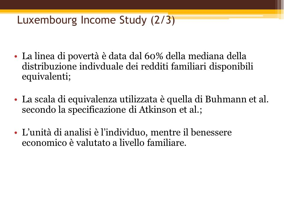 Luxembourg Income Study (2/3)