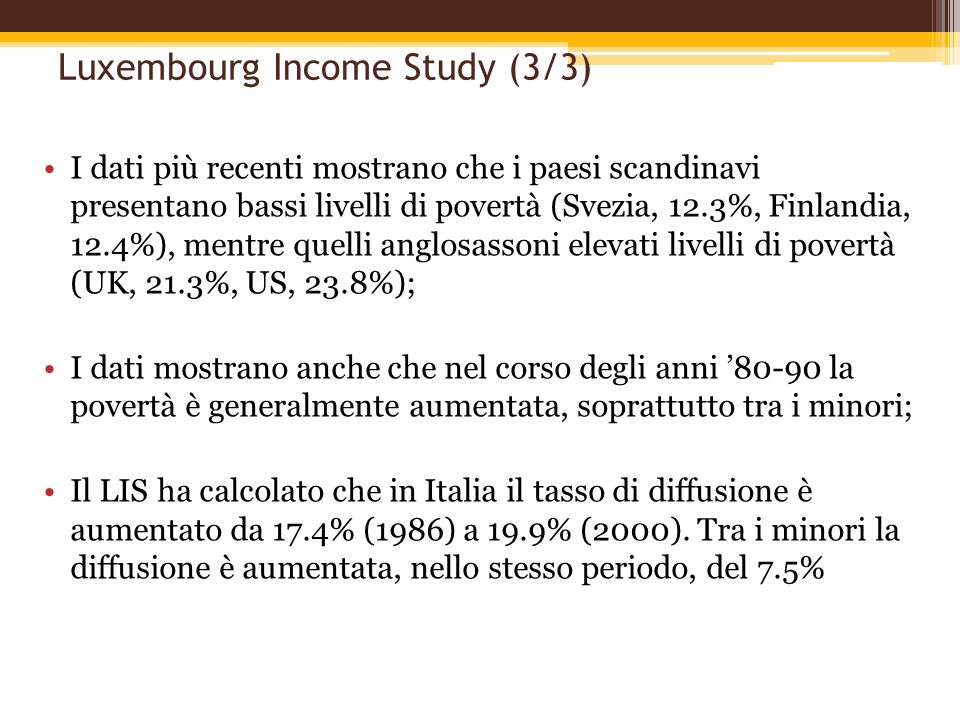 Luxembourg Income Study (3/3)