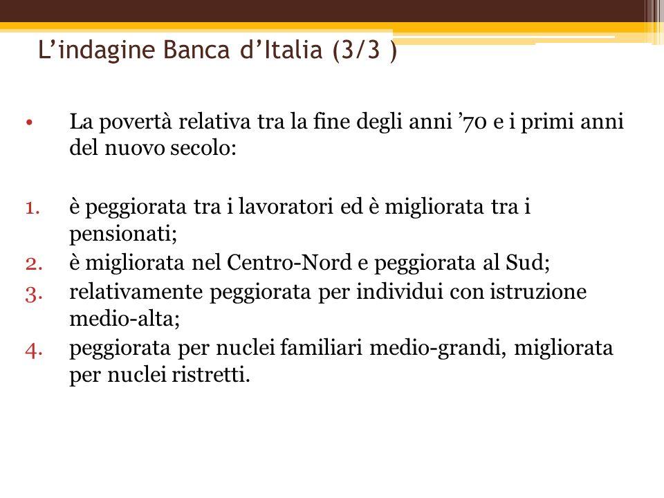 L'indagine Banca d'Italia (3/3 )