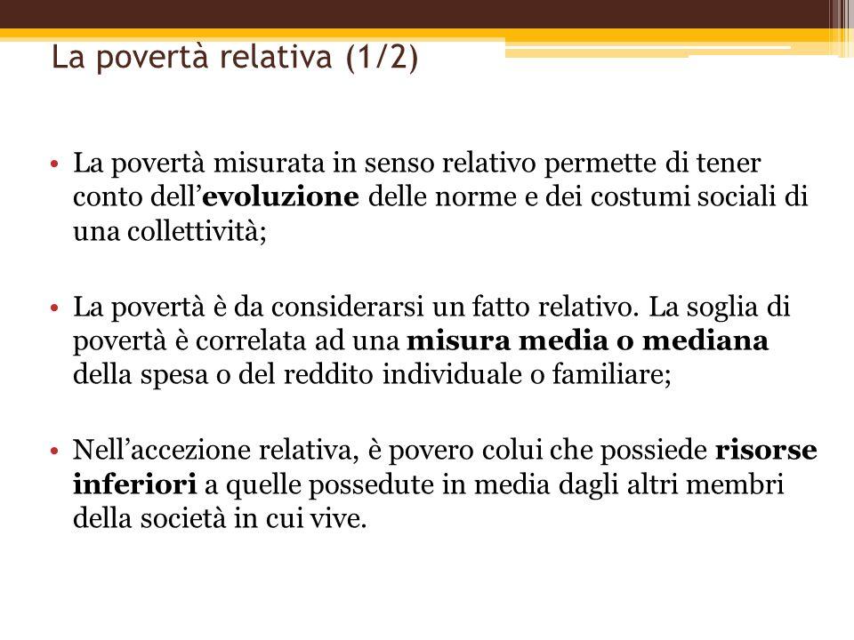 La povertà relativa (1/2)
