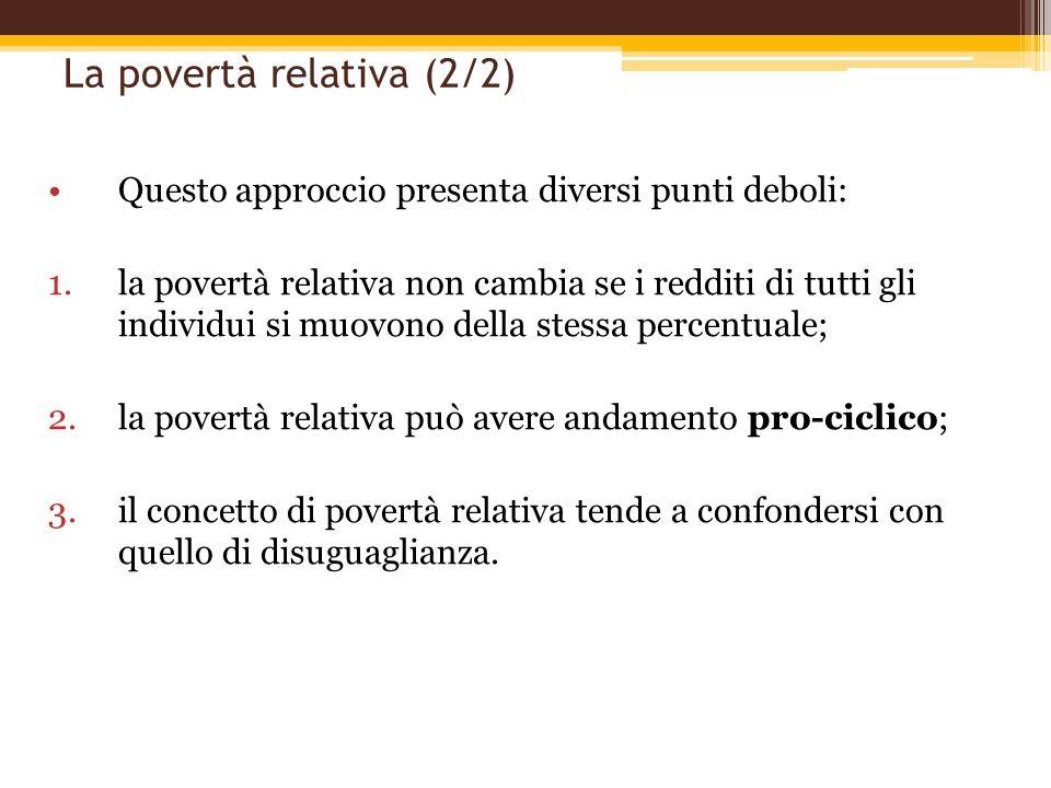 La povertà relativa (2/2)