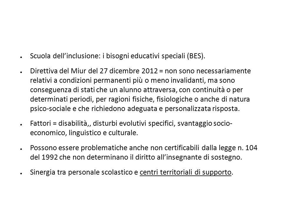 Scuola dell'inclusione: i bisogni educativi speciali (BES).