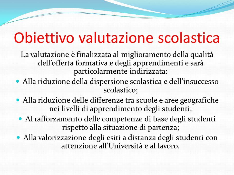 Obiettivo valutazione scolastica