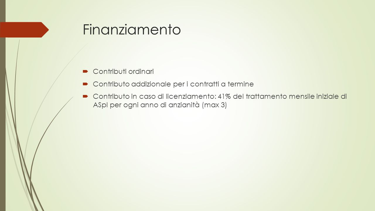 Finanziamento Contributi ordinari