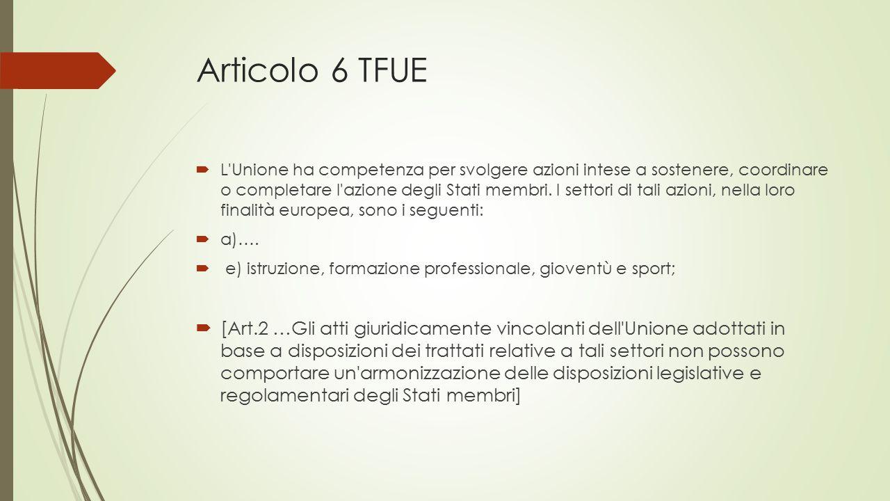 Articolo 6 TFUE