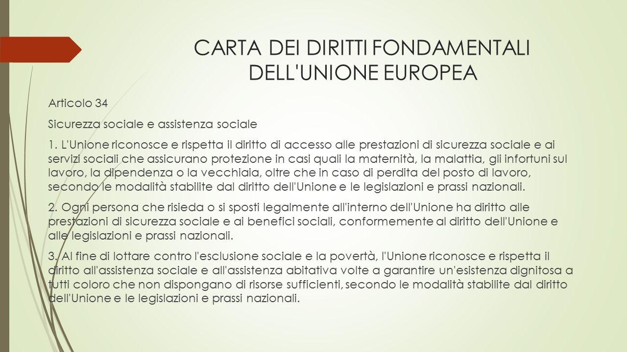CARTA DEI DIRITTI FONDAMENTALI DELL UNIONE EUROPEA