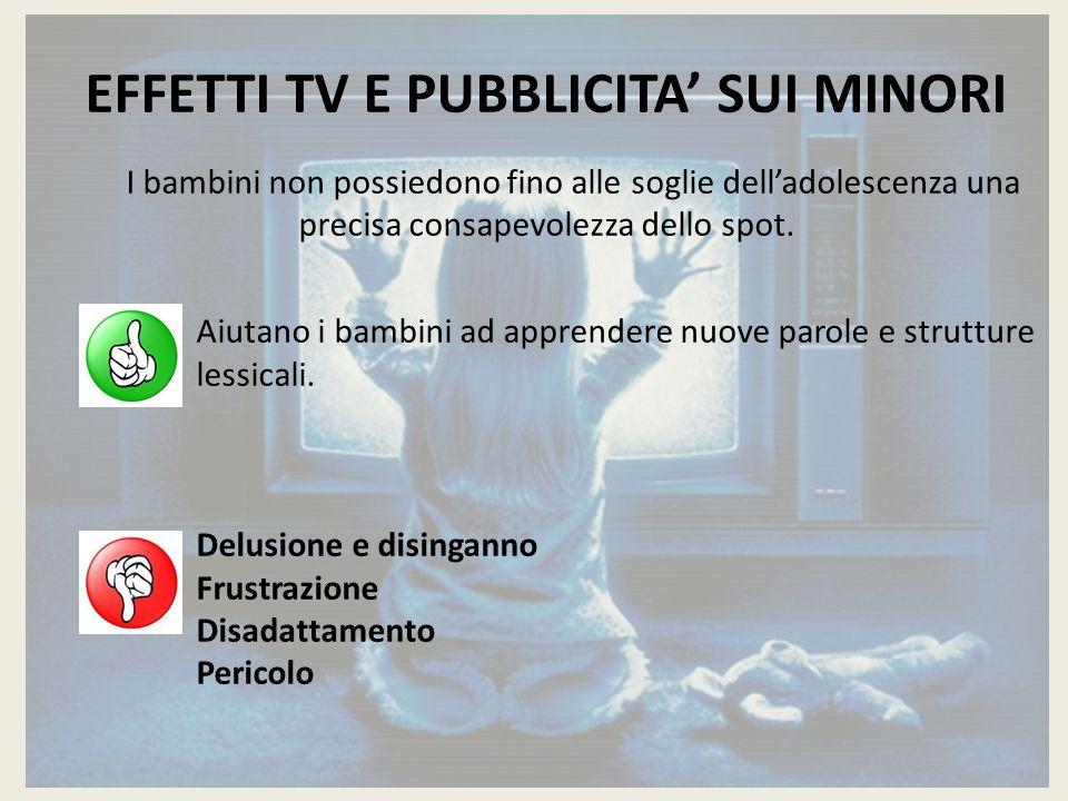 EFFETTI TV E PUBBLICITA' SUI MINORI